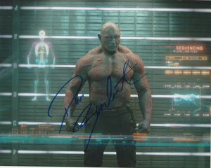 Dave Bautista Guardians of the Galaxy Signed Autograph 8x10 Photo - Outlaw Hobbies Authentic Autographs