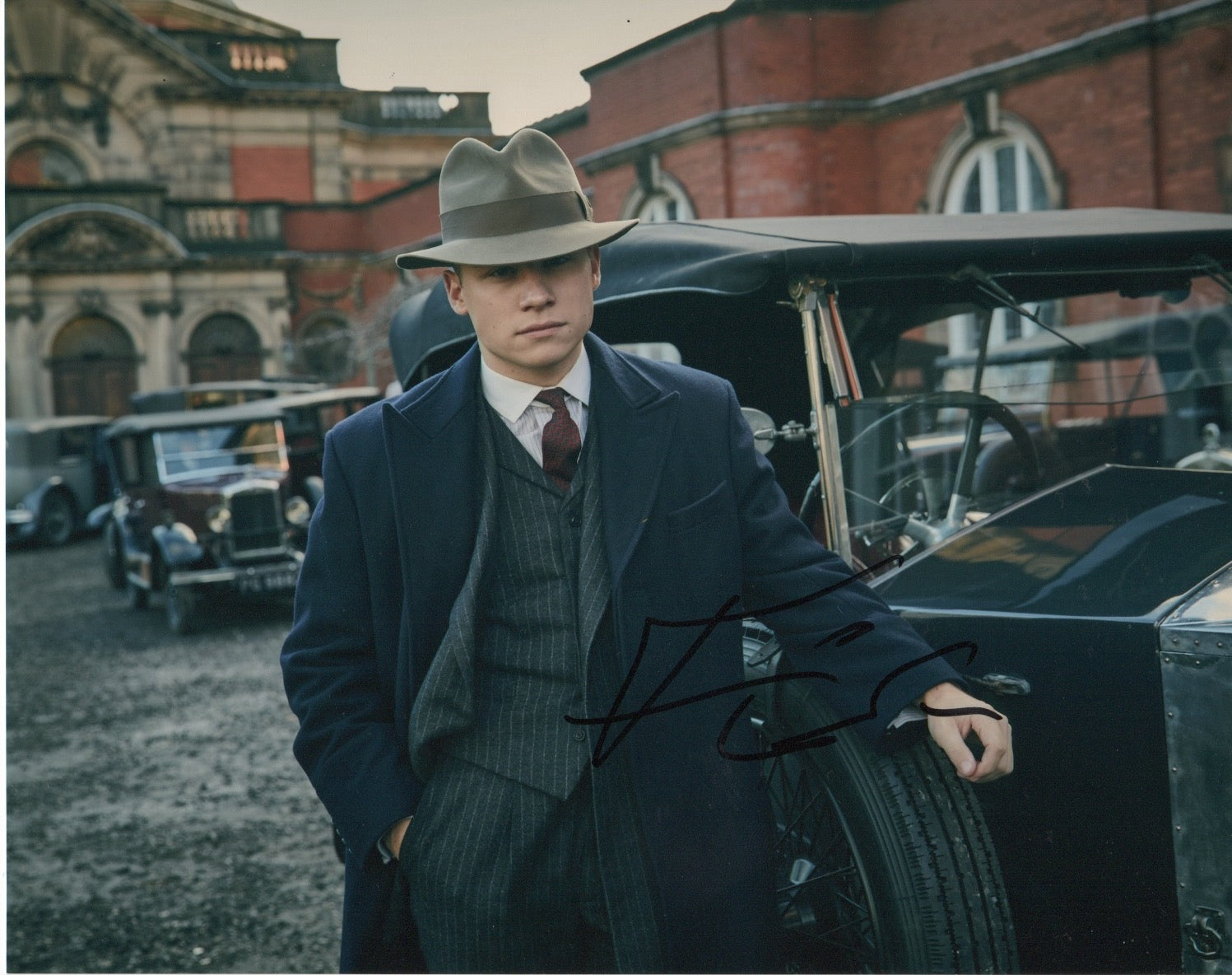 Finn Cole Peaky Blinders Autograph 8x10 Photo Signed #3 - Outlaw Hobbies Authentic Autographs