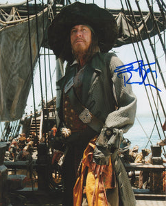 Geoffrey Rush Pirates of the Caribbean Signed Autograph 8x10 Photo - Outlaw Hobbies Authentic Autographs