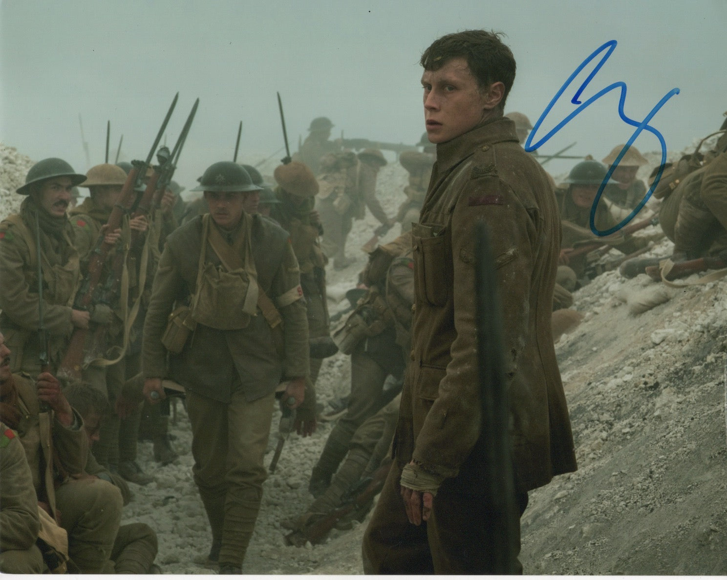 George Mackay 1917 Signed Autograph 8x10 Photo #8 - Outlaw Hobbies Authentic Autographs
