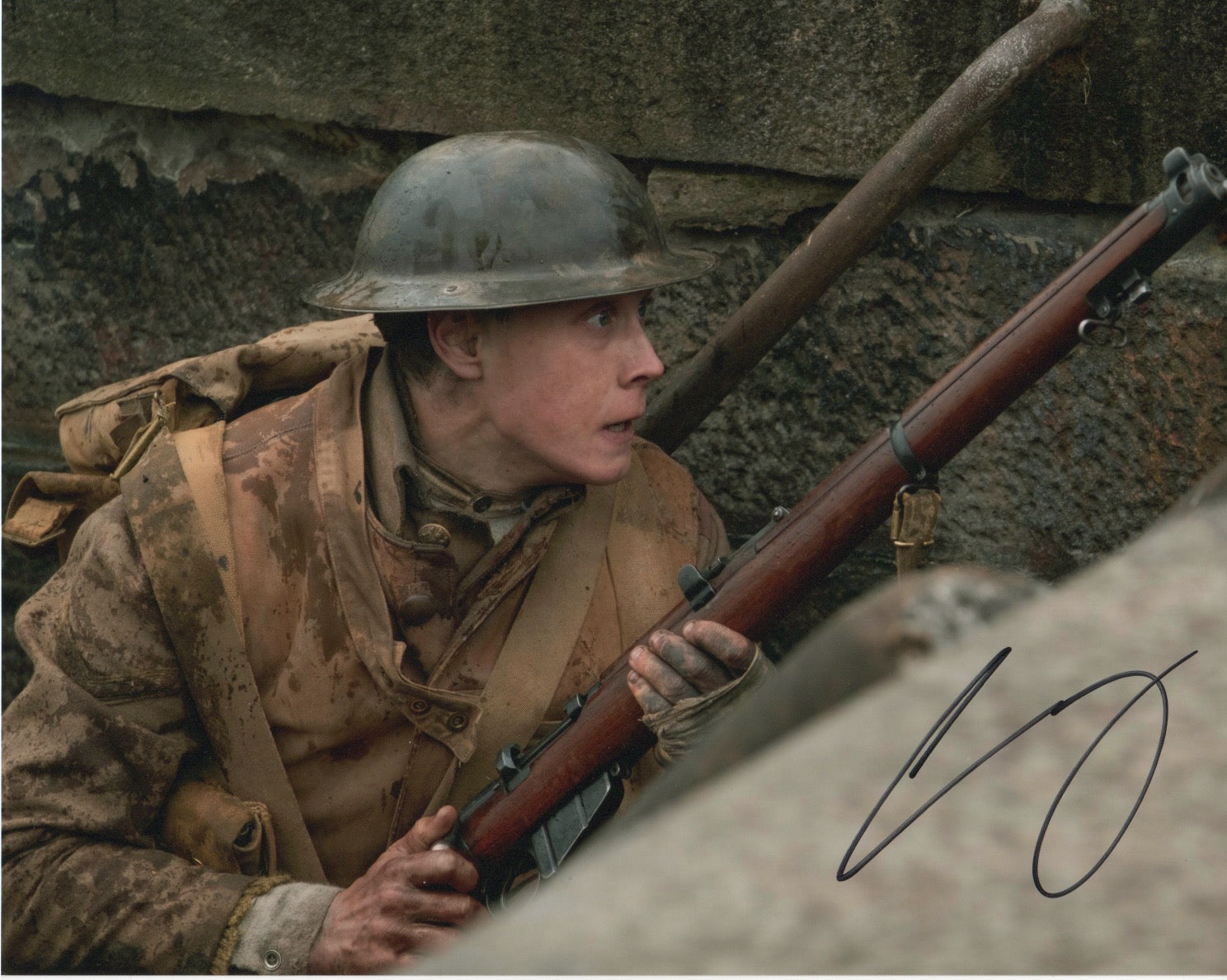 George Mackay 1917 Signed Autograph 8x10 Photo #2 - Outlaw Hobbies Authentic Autographs