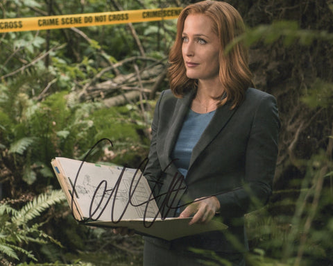 Gillian Anderson X-Files Signed Autograph 8x10 Photo #5