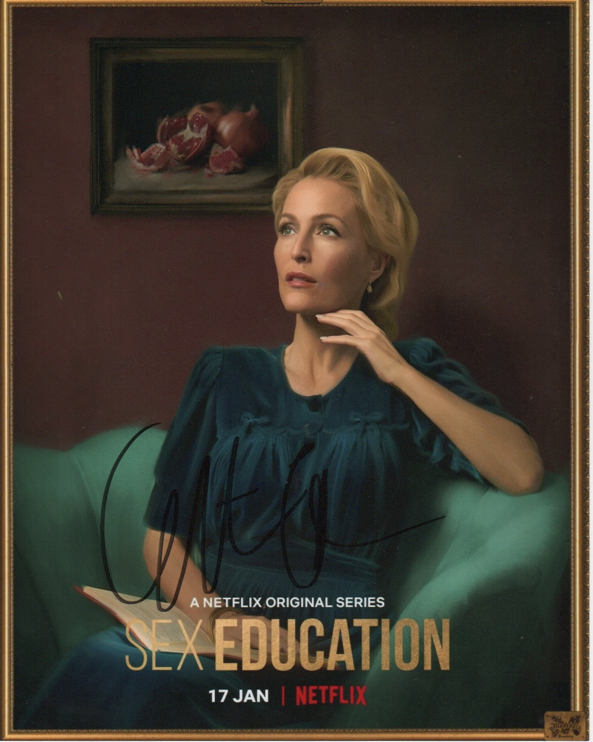 Gillian Anderson Sex Education Signed Autograph 8x10 Photo