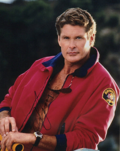 David Hasselhoff Baywatch Autograph 8x10 Photo #3 - Outlaw Hobbies Authentic Autographs