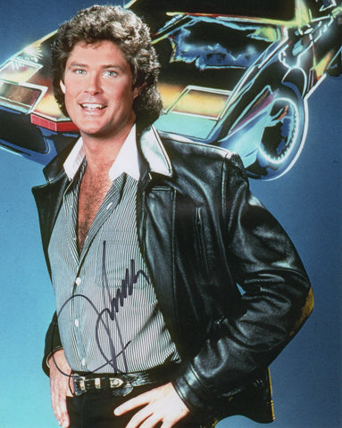 David Hasselhoff Knight Rider Autograph 8x10 Photo #4 - Outlaw Hobbies Authentic Autographs