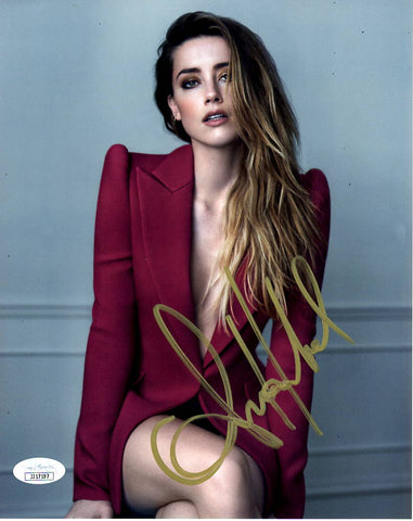 Amber Heard Aquaman Sexy Signed Autograph 8x10 Photo JSA Authentic #2 - Outlaw Hobbies Authentic Autographs