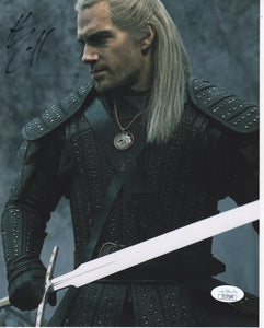 Henry Cavill The Witcher Signed Autograph 8x10 Photo JSA Authentic #5 - Outlaw Hobbies Authentic Autographs