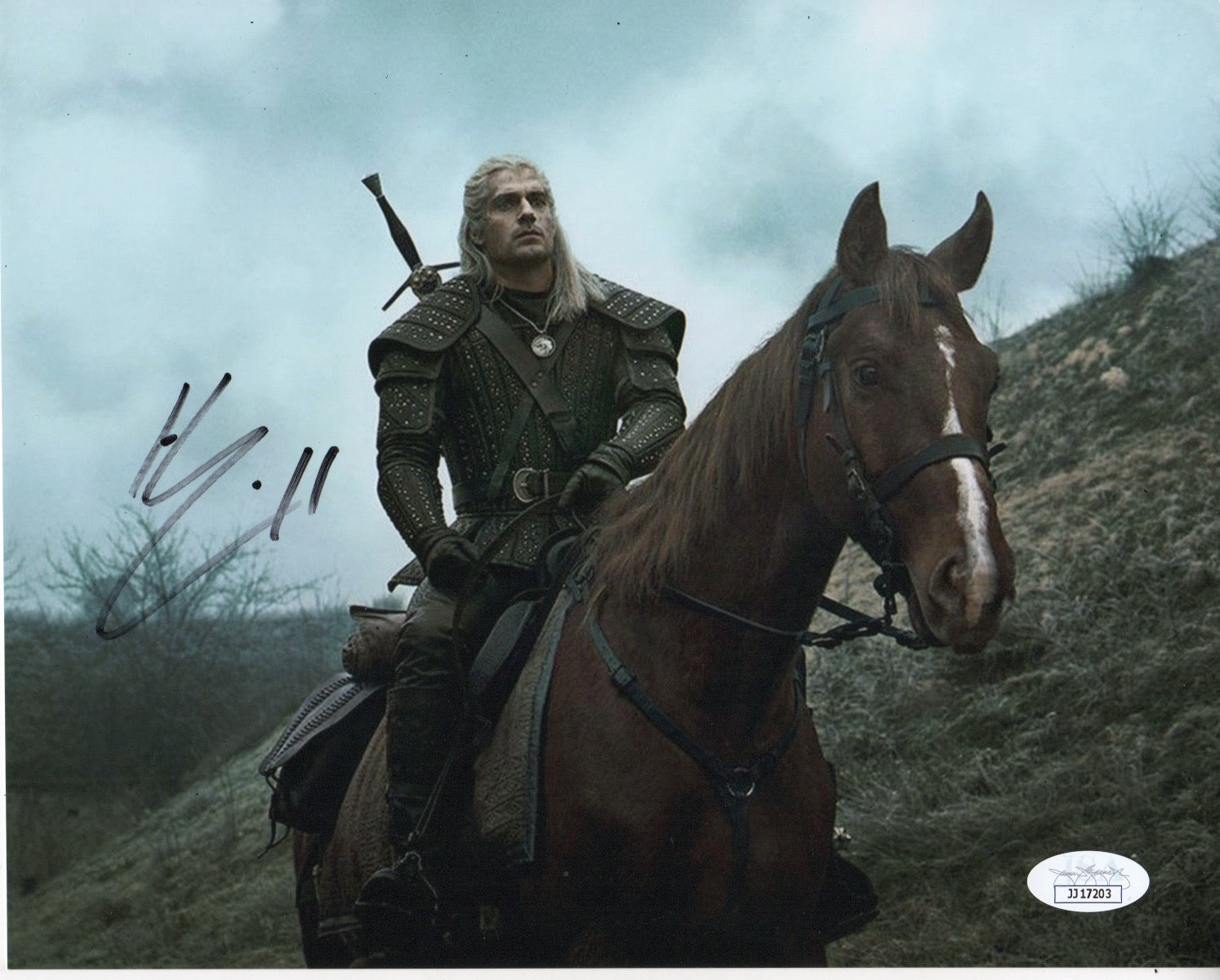 Henry Cavill The Witcher Signed Autograph 8x10 Photo JSA Authentic - Outlaw Hobbies Authentic Autographs