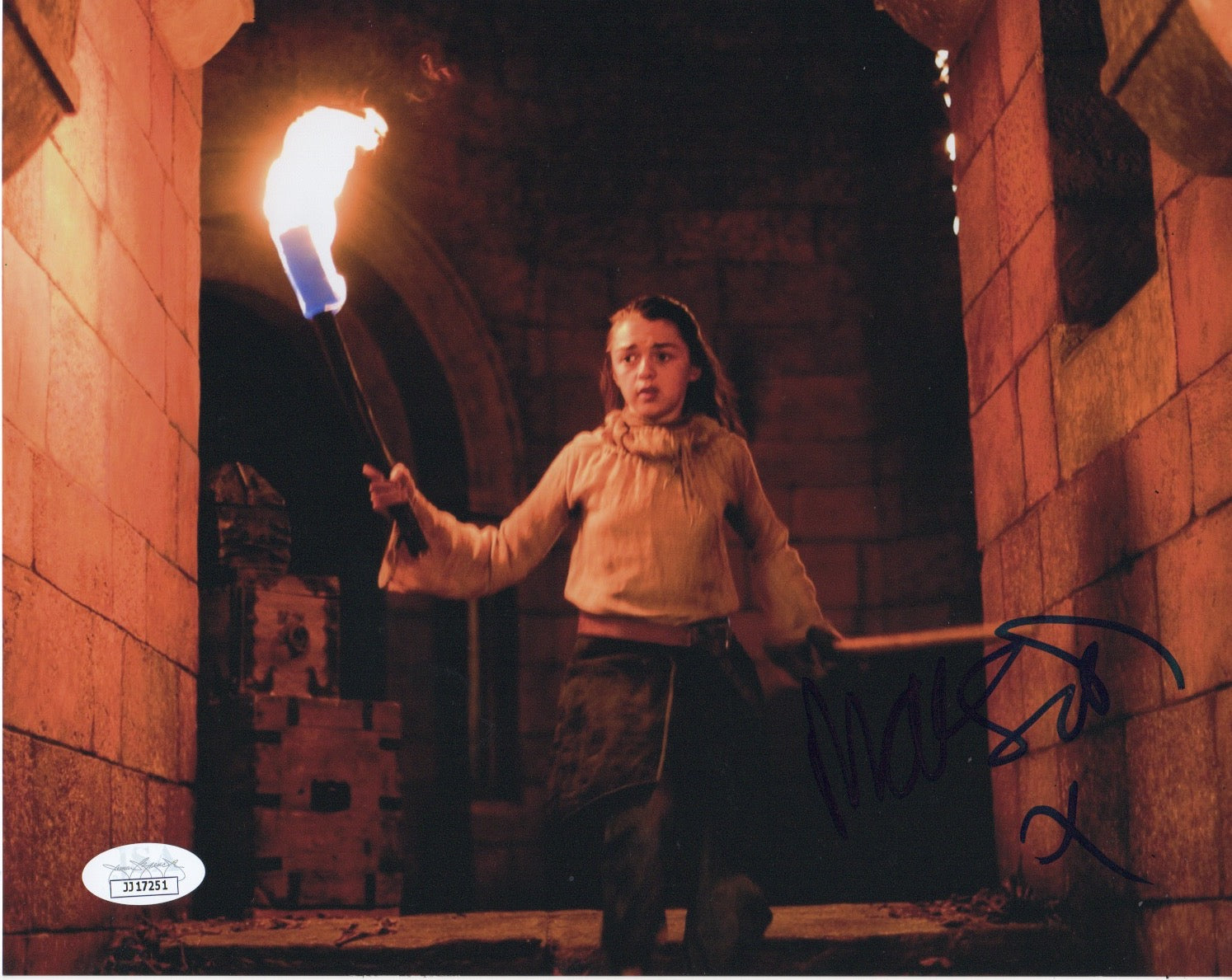 Maisie Williams Game of Thrones Signed Autograph 8x10 Photo JSA Arya Authentic #5 - Outlaw Hobbies Authentic Autographs