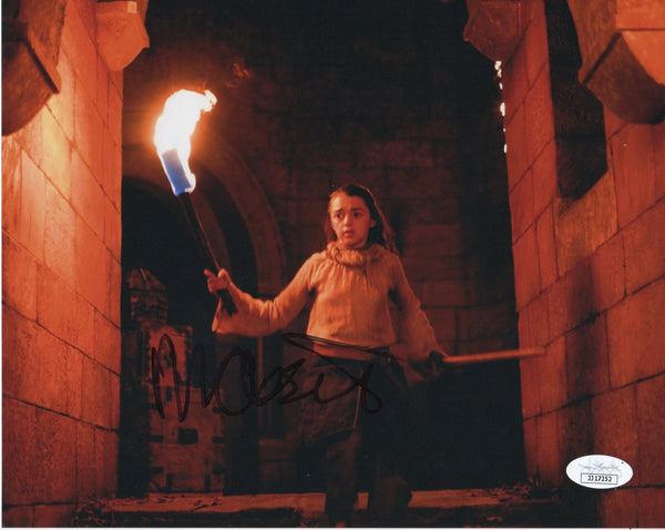 Maisie Williams Game of Thrones Signed Autograph 8x10 Photo JSA Arya Authentic #4 - Outlaw Hobbies Authentic Autographs