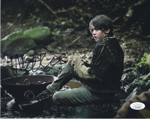 Maisie Williams Game of Thrones Signed Autograph 8x10 Photo JSA Arya Authentic - Outlaw Hobbies Authentic Autographs