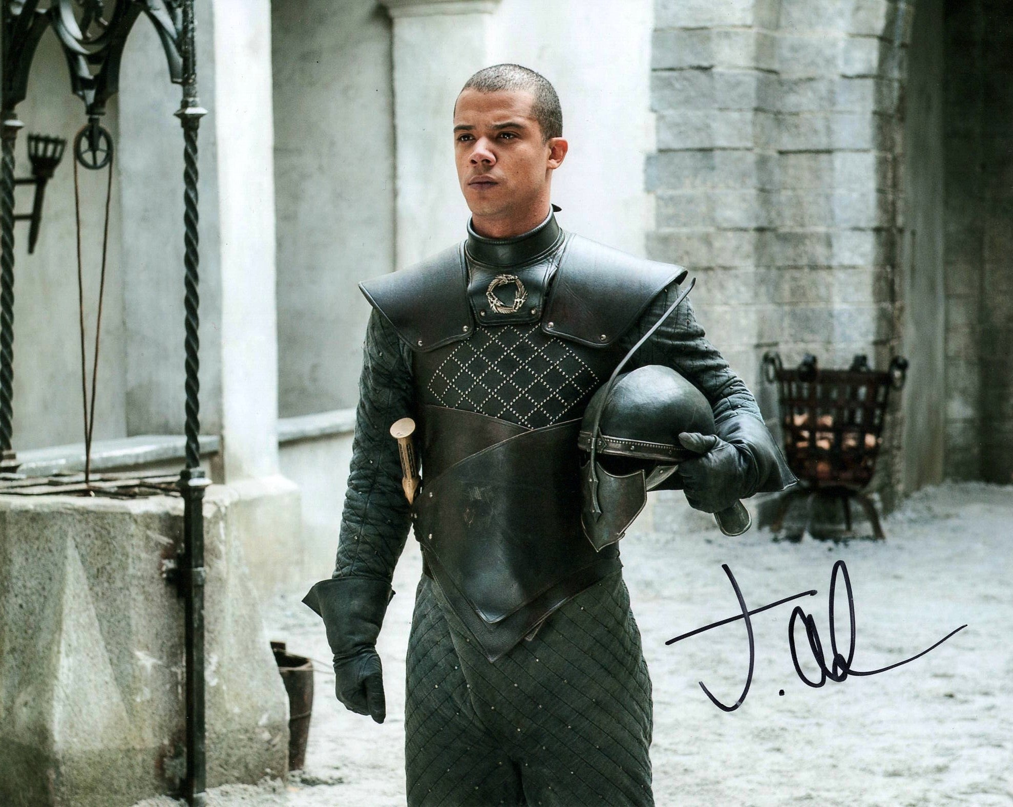 Jacob Anderson Game of Thrones Signed Autograph 8x10 Photo - Outlaw Hobbies Authentic Autographs