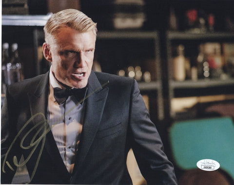 Dolph Lundgren Arrow Signed Autograph 8x10 Photo JSA #5 - Outlaw Hobbies Authentic Autographs