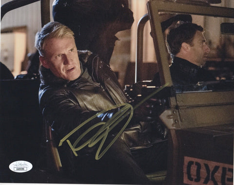 Dolph Lundgren Arrow Signed Autograph 8x10 Photo JSA #6 - Outlaw Hobbies Authentic Autographs