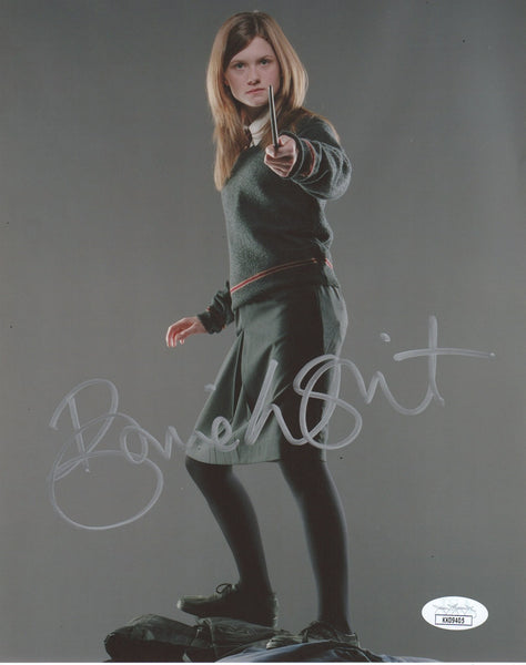 Bonnie Wright Harry Potter Signed Autograph 8x10 Photo JSA