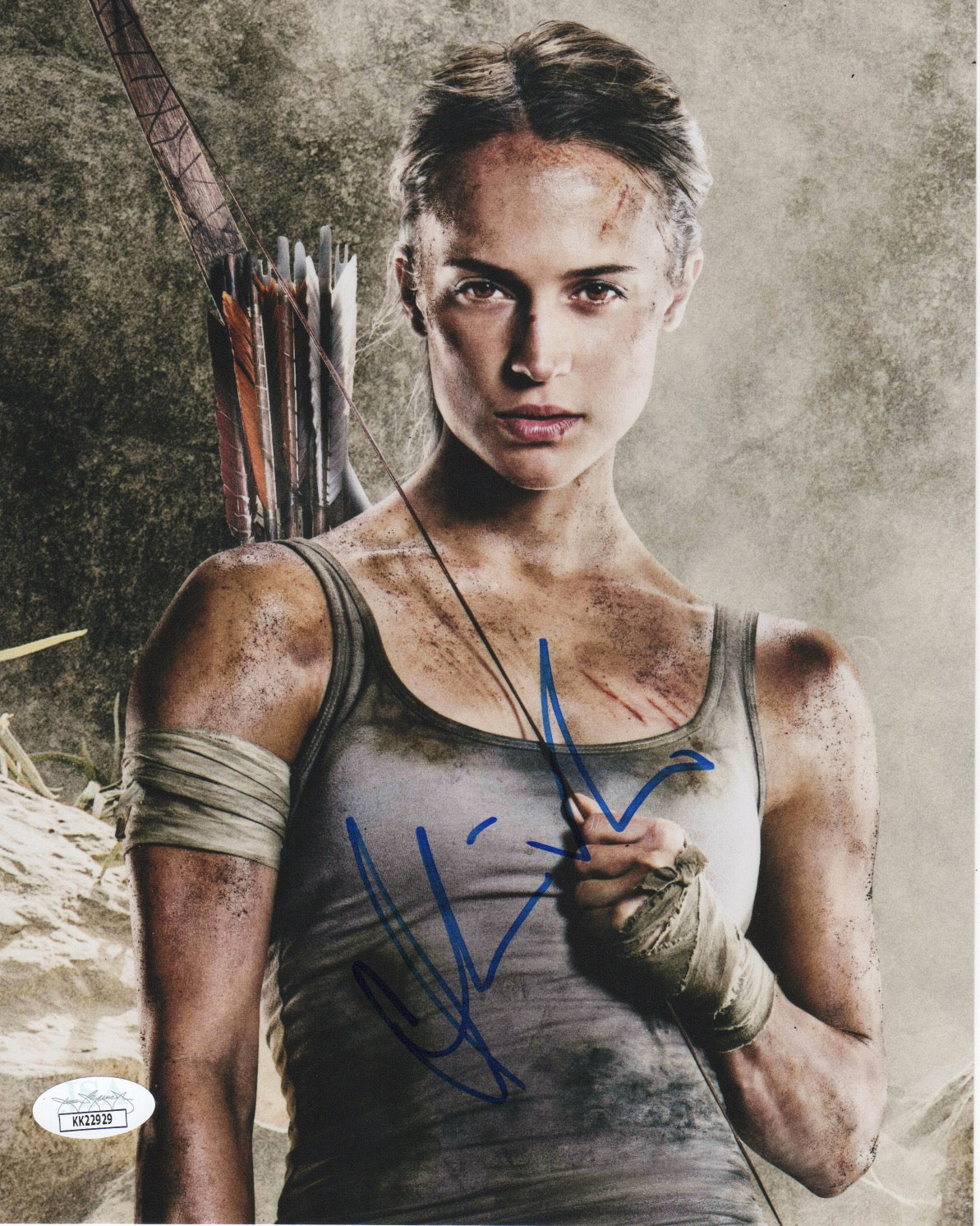 Alicia Vikander Sexy Tomb Raider Signed Autograph 8x10 Photo JSA #8 - Outlaw Hobbies Authentic Autographs