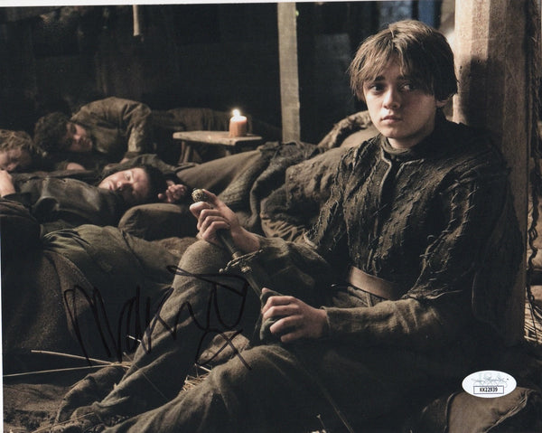Maisie Williams Game of Thrones Signed Autograph 8x10 Photo JSA Arya Authentic #7 - Outlaw Hobbies Authentic Autographs