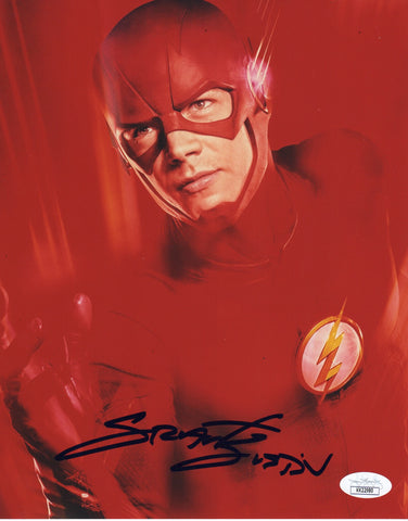 Grant Gustin Signed The Flash Autograph 8x10 Photo JSA #14 - Outlaw Hobbies Authentic Autographs