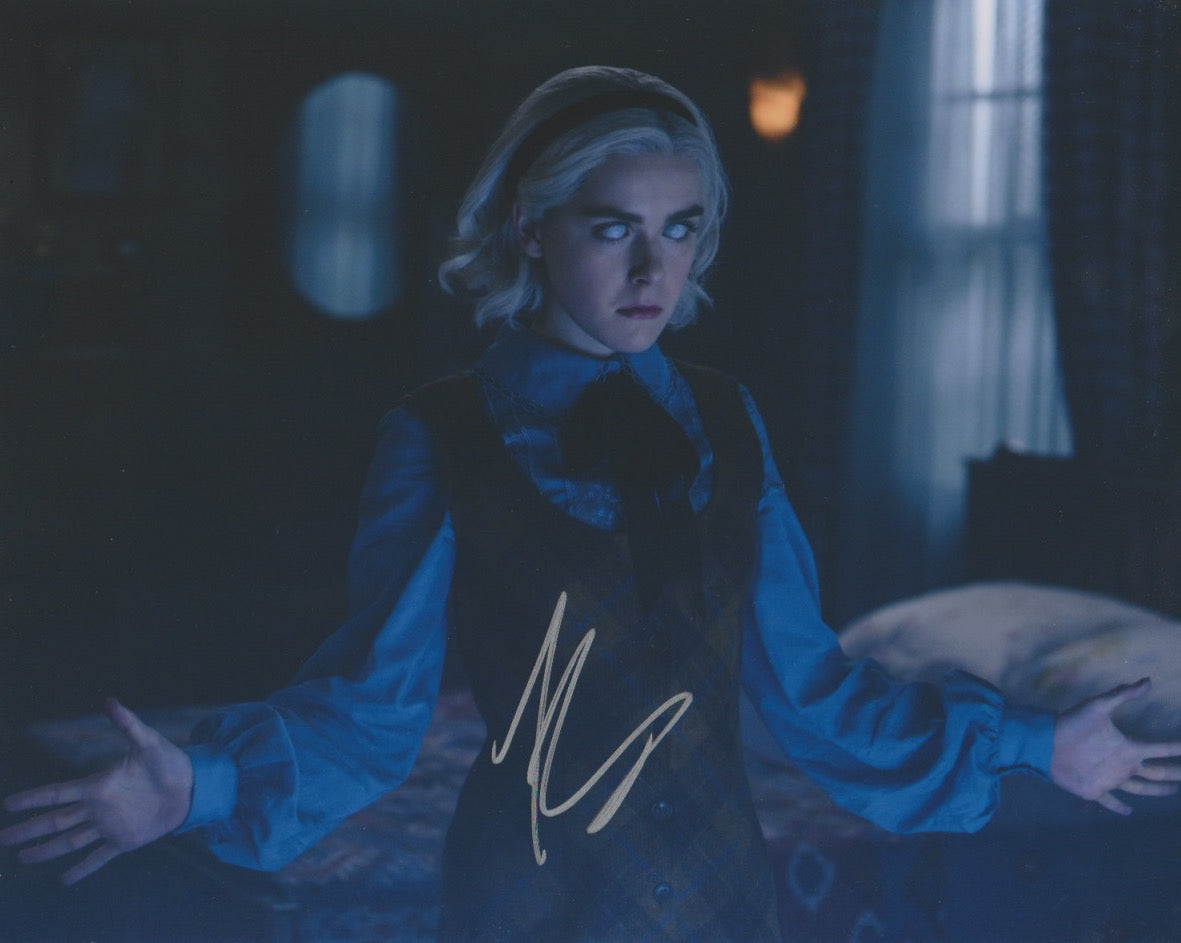 Kiernan Shipka Sabrina Signed Autograph 8x10 CAOS Photo #13 - Outlaw Hobbies Authentic Autographs
