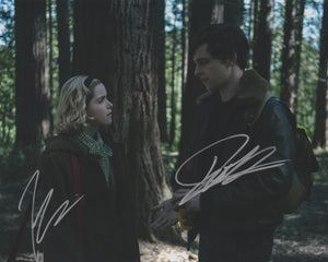 Kiernan Shipka Ross Lynch Chilling Adventures of Sabrina Signed Autograph 8x10 CAOS