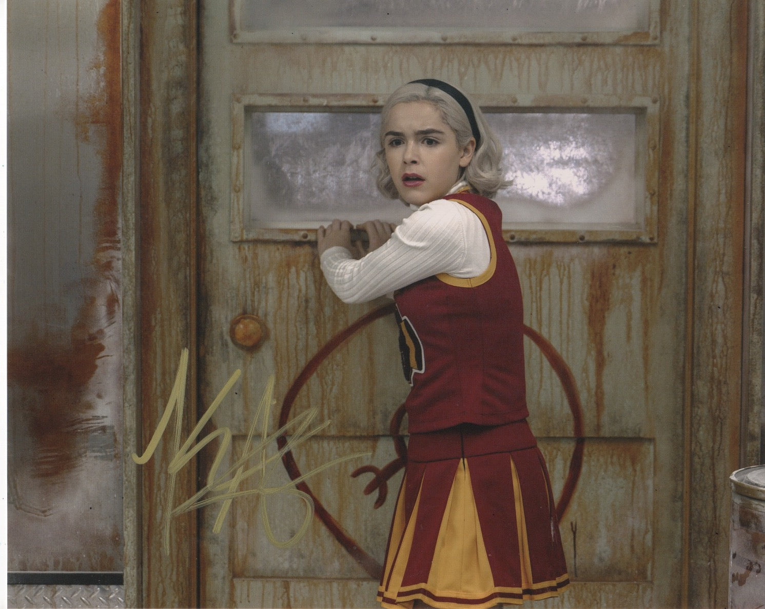 Kiernan Shipka Chilling Adventures Sabrina Signed Autograph 8x10 Photo #45 - Outlaw Hobbies Authentic Autographs