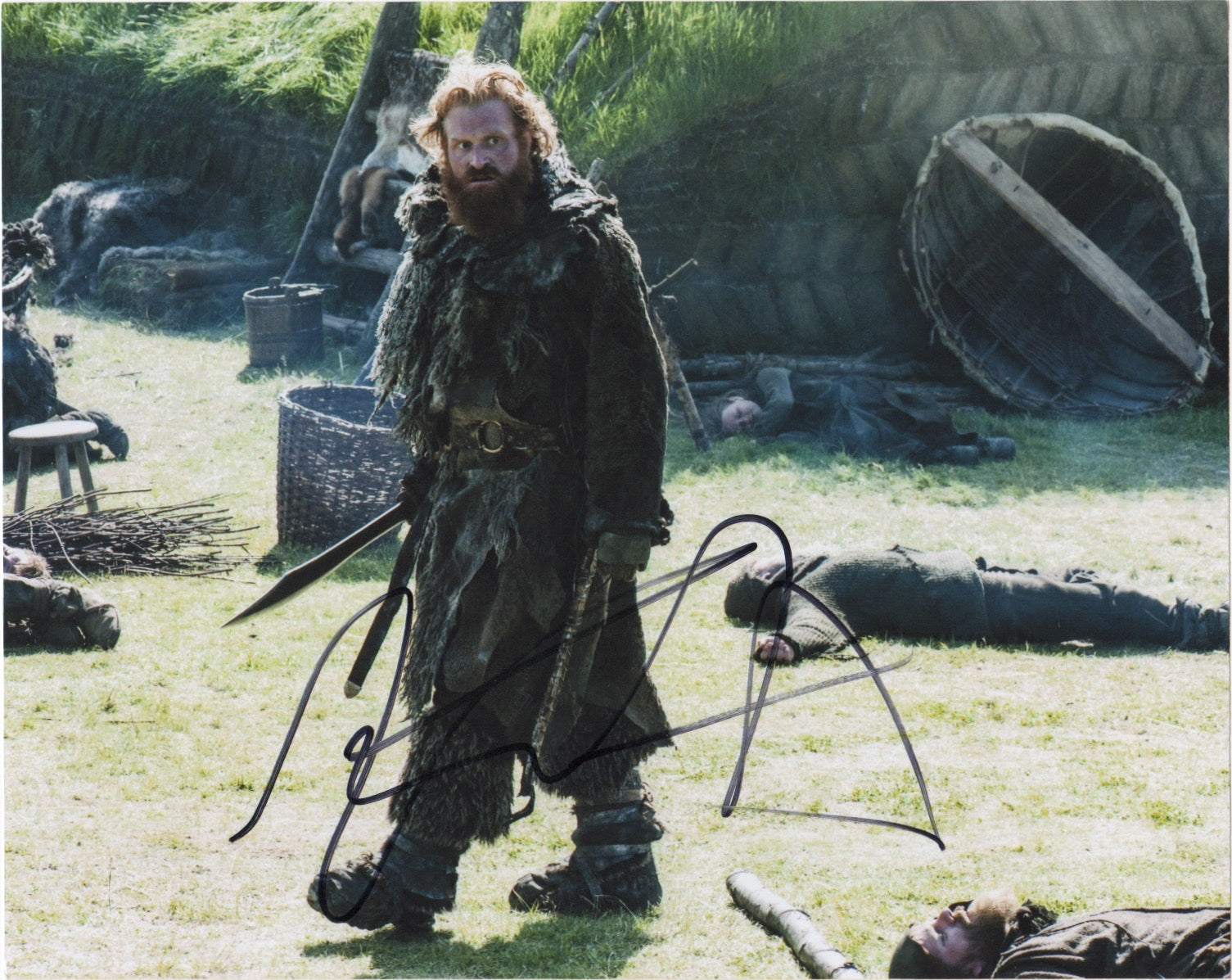 Kristofer Hivju Game of Thrones Signed Autograph 8x10 Photo - Outlaw Hobbies Authentic Autographs