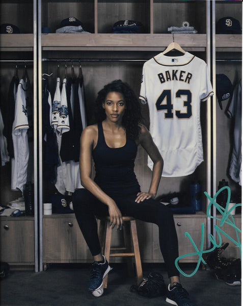 Kylie Bunbury Pitch Signed Autograph 8x10 Photo - Outlaw Hobbies Authentic Autographs