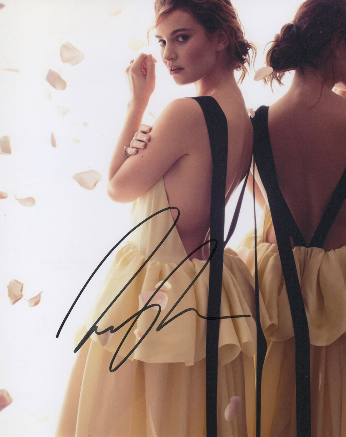 Lily James Sexy Signed Autograph 8x10 Photo #3 - Outlaw Hobbies Authentic Autographs