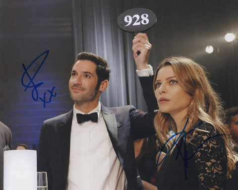 Tom Ellis Lauren German Lucifer Signed Autograph 8x10 Photo COA - Outlaw Hobbies Authentic Autographs