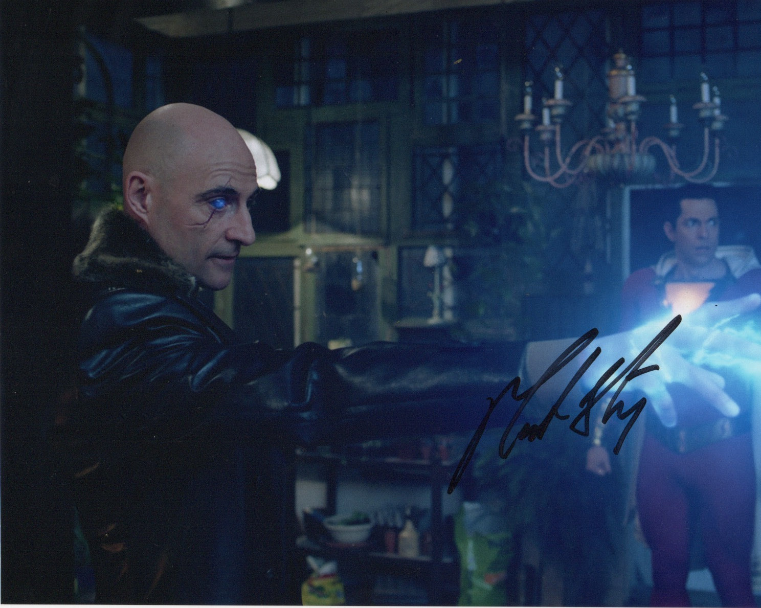 Mark Strong Shazam Signed Autograph 8x10 Photo #5