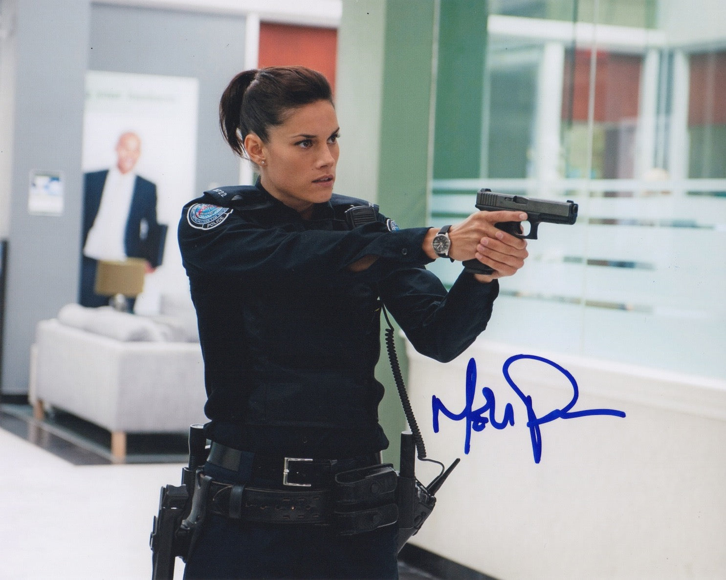 Missy Peregrym Rookie Blue Signed Autograph 8x10 Photo - Outlaw Hobbies Authentic Autographs