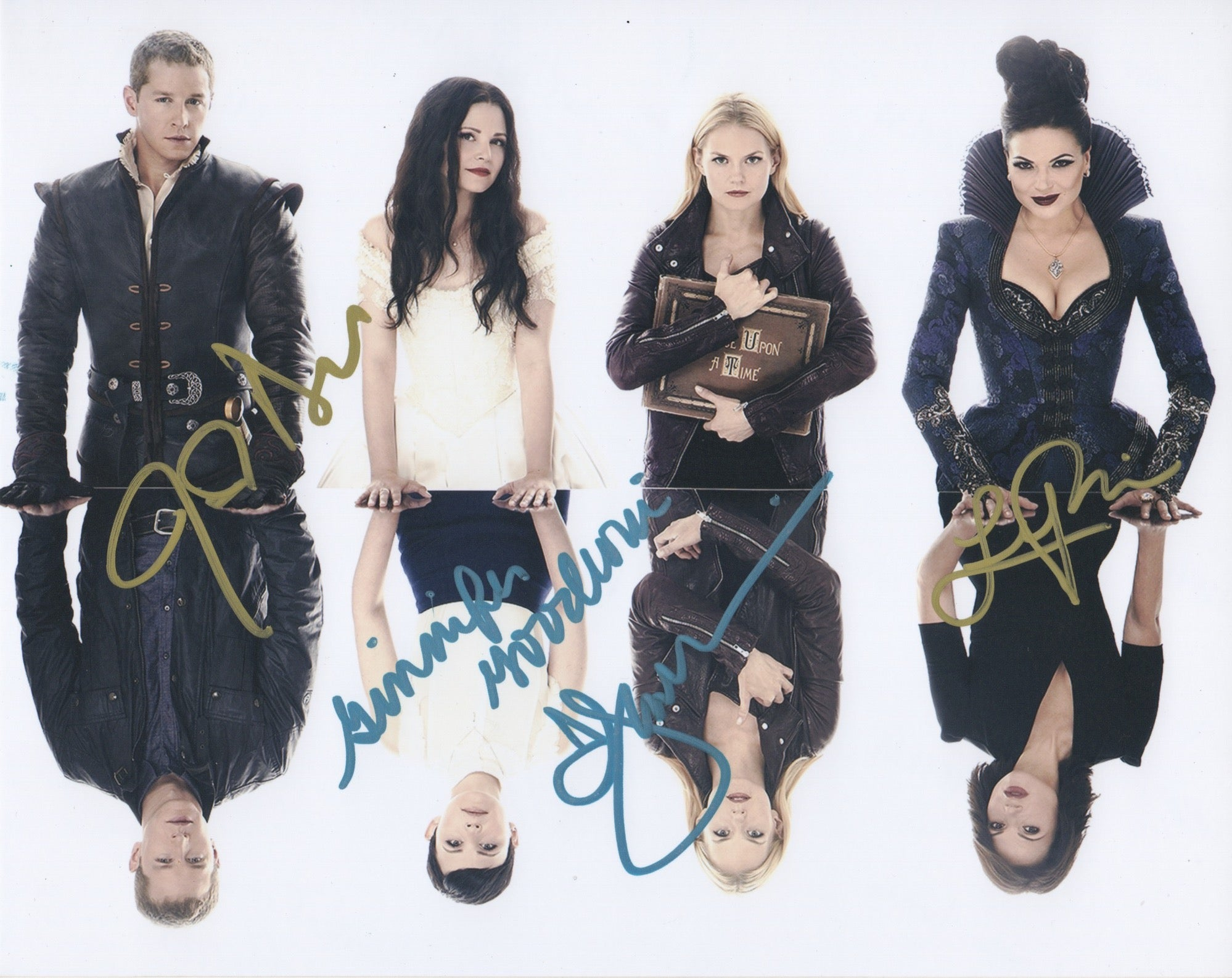 Once Upon A Time Josh Dallas Jennifer Morrison Ginnifer Goodwin Lana Parrilla Signed Autograph 8x10 Photo - Outlaw Hobbies Authentic Autographs