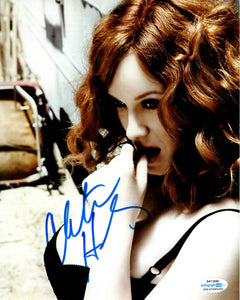 Christina Hendricks Sexy Signed Autograph 8x10 Photo - Outlaw Hobbies Authentic Autographs
