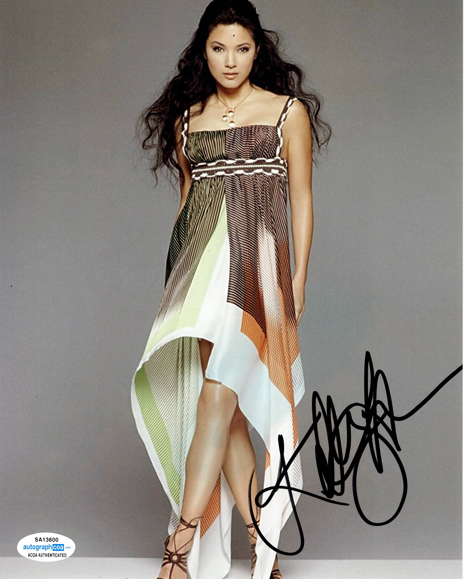 Kelly Hu X-Men Sexy Signed Autograph 8x10 Photo - Outlaw Hobbies Authentic Autographs