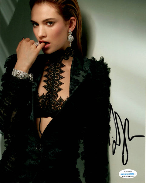 Lily James Sexy Signed Autograph ACOA 8x10 Photo #2 - Outlaw Hobbies Authentic Autographs