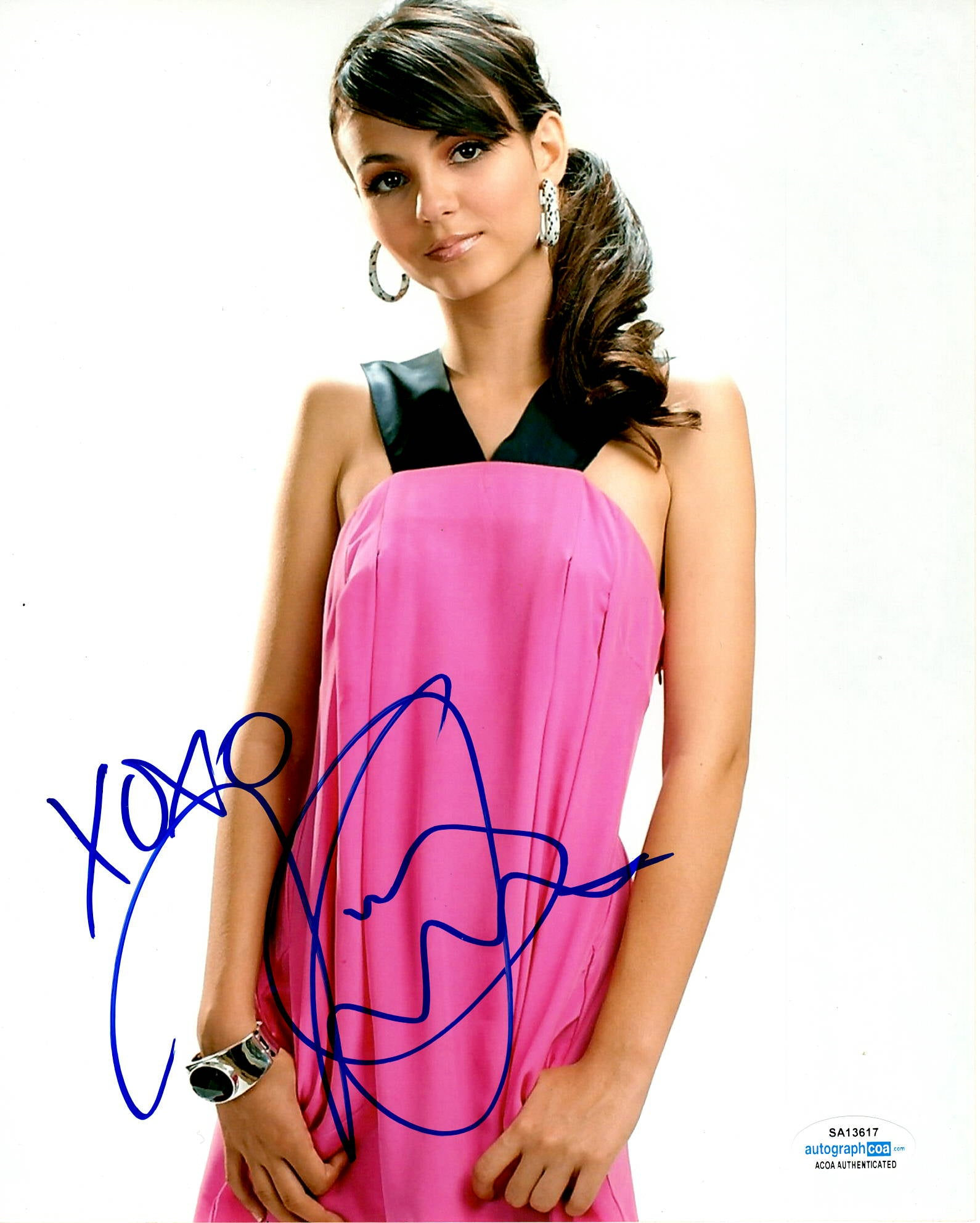 Victoria Justice Sexy Signed Autograph 8x10 Photo - Outlaw Hobbies Authentic Autographs