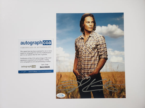 Taylor Kitsch Friday Night Lights Signed Autograph 8x10 Photo #5 - Outlaw Hobbies Authentic Autographs