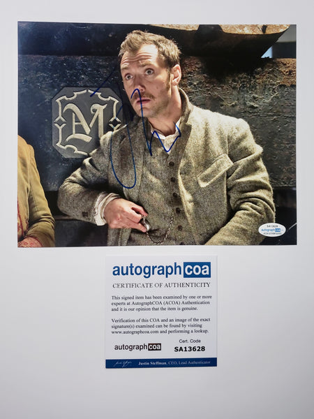 Jude Law Sherlock Signed Autograph 8x10 Photo - Outlaw Hobbies Authentic Autographs