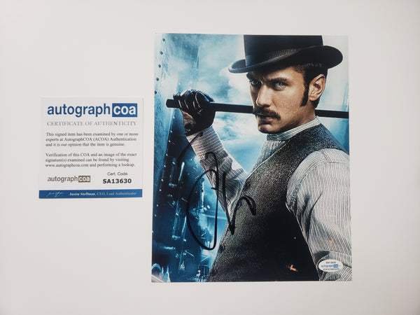 Jude Law Sherlock Signed Autograph 8x10 Photo #3 - Outlaw Hobbies Authentic Autographs