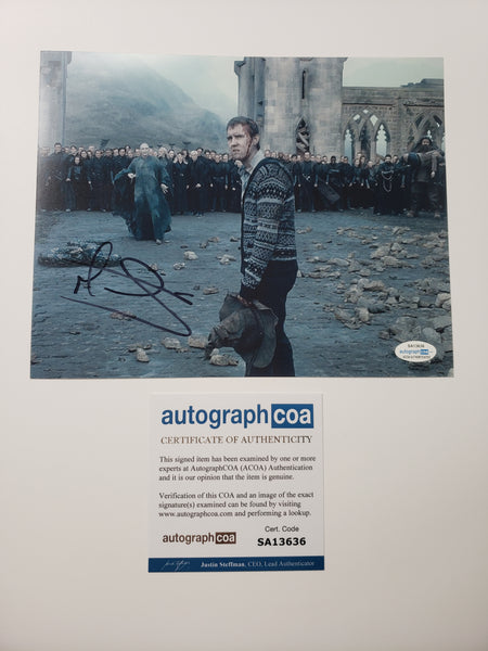 Matthew Matt Lewis Harry Potter Signed Autograph 8x10 Photo #5 - Outlaw Hobbies Authentic Autographs