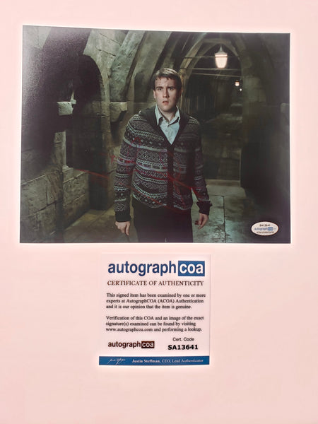 Matthew Matt Lewis Harry Potter Signed Autograph 8x10 Photo #10