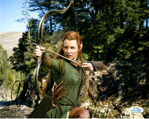 Evangeline Lilly The Hobbit Signed Autograph 8x10 Photo