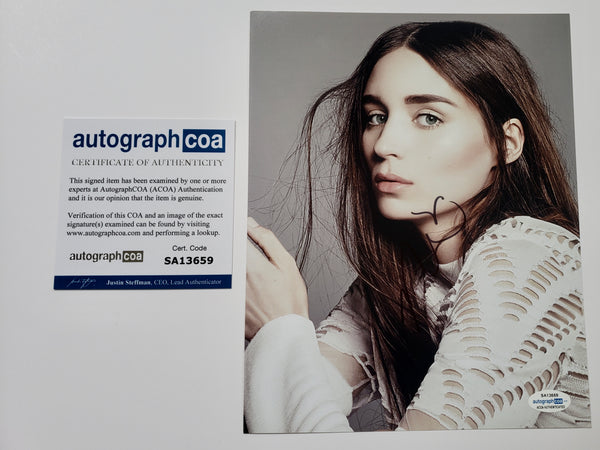 Rooney Mara Sexy Signed Autograph 8x10 Photo #2 - Outlaw Hobbies Authentic Autographs