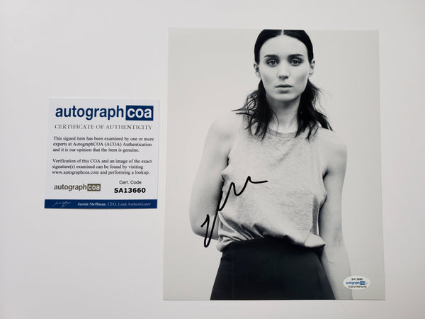 Rooney Mara Sexy Signed Autograph 8x10 Photo #3 - Outlaw Hobbies Authentic Autographs