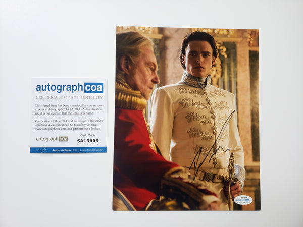 Richard Madden Cinderella Signed Autograph 8x10 Photo #3 - Outlaw Hobbies Authentic Autographs
