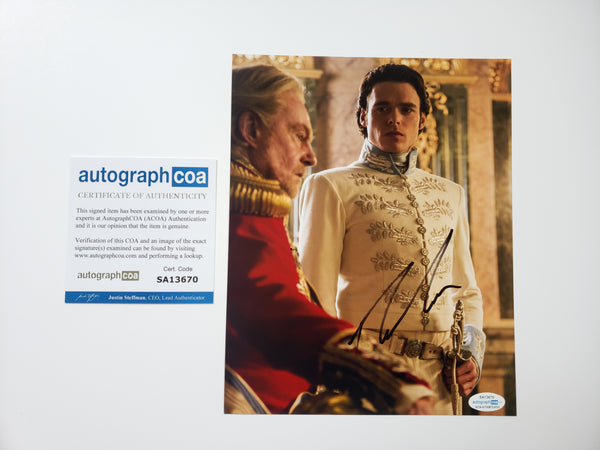 Richard Madden Cinderella Signed Autograph 8x10 Photo #4