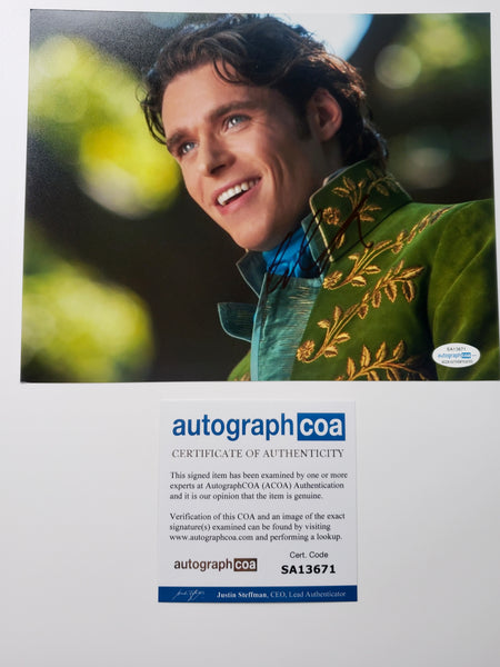 Richard Madden Cinderella Signed Autograph 8x10 Photo #5