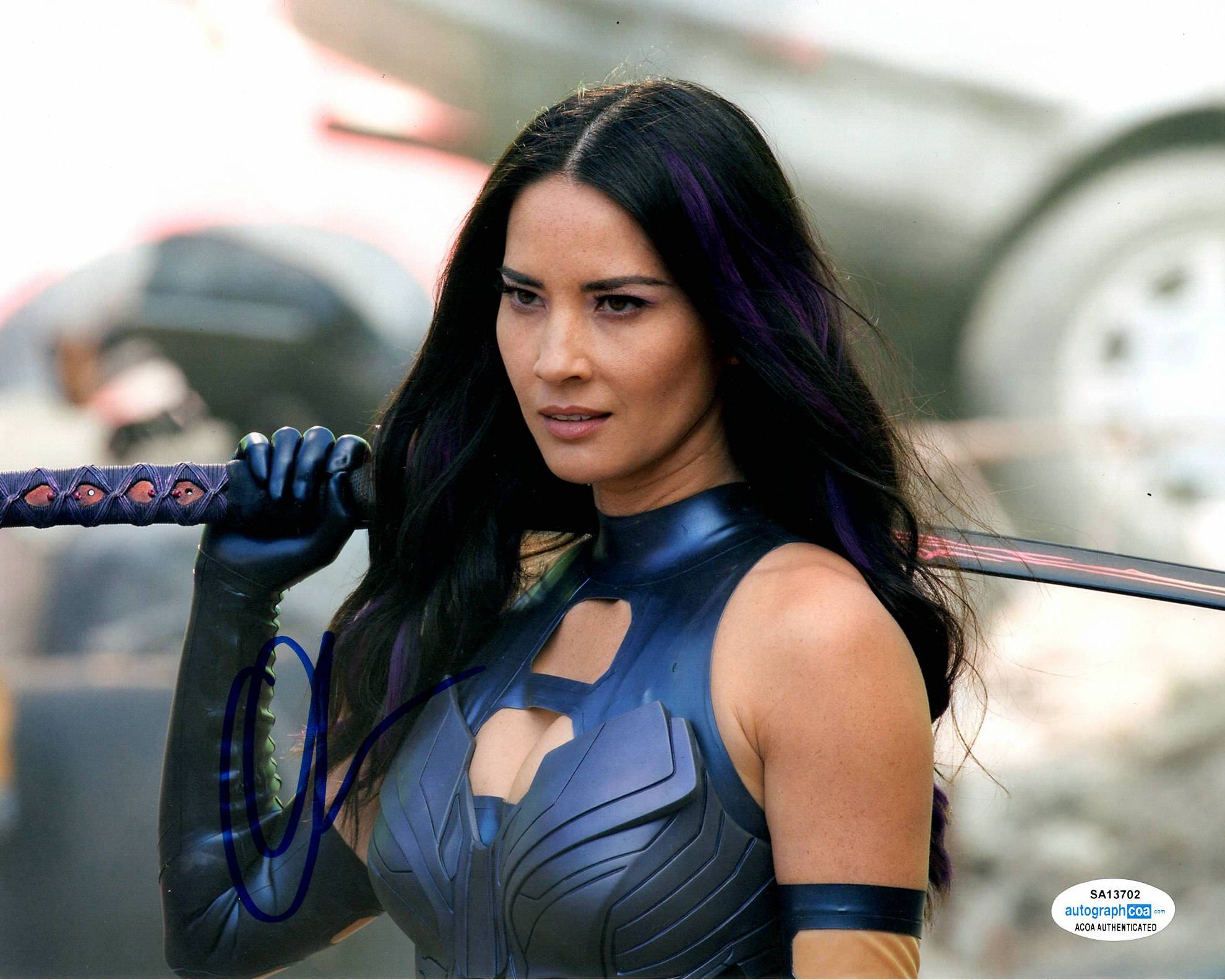 Olivia Munn Sexy X-men Signed Autograph 8x10 Photo #5 - Outlaw Hobbies Authentic Autographs
