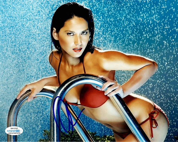 Olivia Munn Sexy X-men Signed Autograph 8x10 Photo #10 - Outlaw Hobbies Authentic Autographs