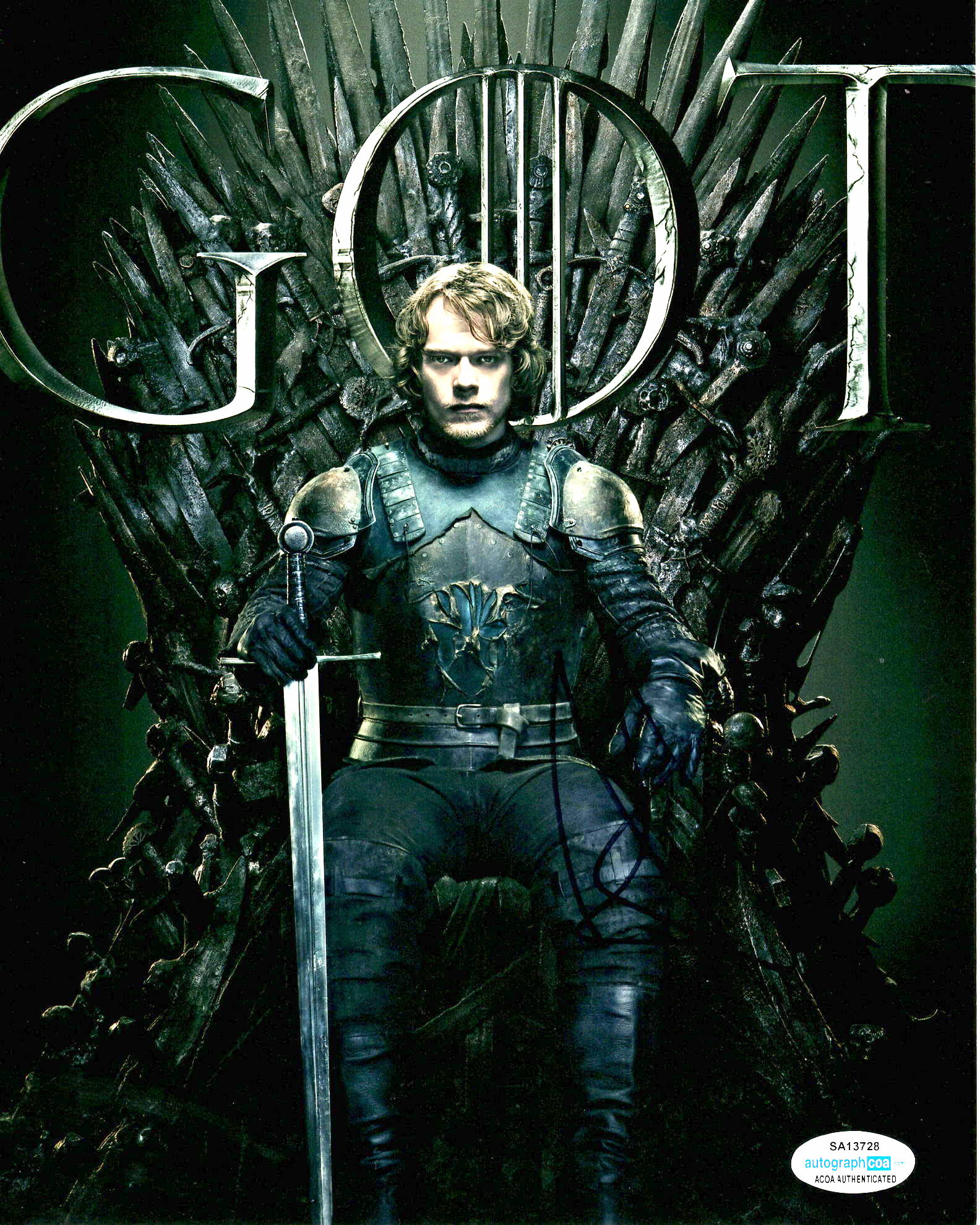 Alfie Allen Game of Thrones Signed Autograph 8x10 Photo #3 - Outlaw Hobbies Authentic Autographs